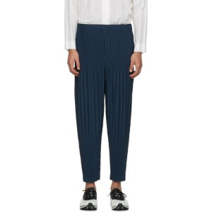 Homme Plisse Issey Miyake Blue Monthly Colors October Trousers