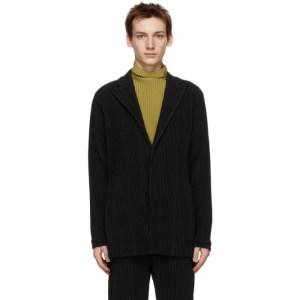Homme Plisse Issey Miyake Black Tailored Pleats 2 Blazer