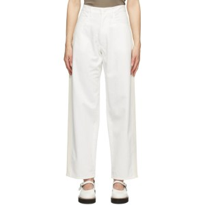 Ys White U-Side Stripe Jeans