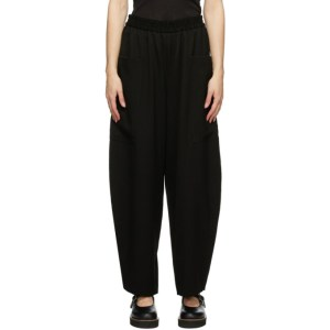 Ys Black Wool N-Pocket Trousers