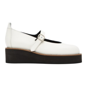 Ys White Platform Mary Jane Oxfords