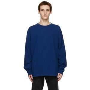 John Elliott Blue University Long Sleeve T-Shirt