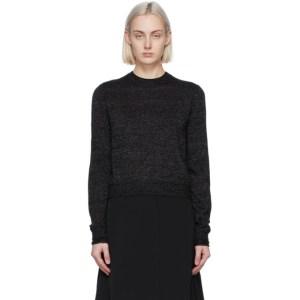Victoria Victoria Beckham Black Mohair Lurex Fitted Sweater