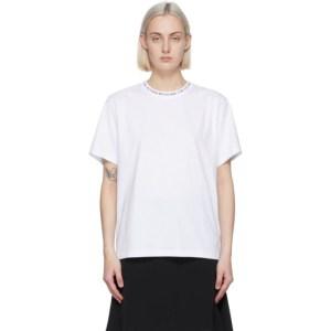 Victoria Victoria Beckham White Logo Rib T-Shirt