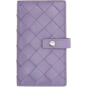 Bottega Veneta Purple Bifold Card Holder Keychain