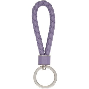 Bottega Veneta Purple Intrecciato Loop Keychain