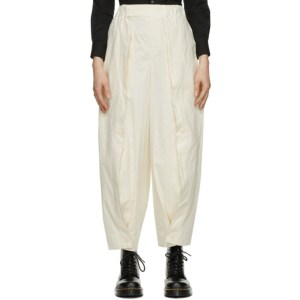 Issey Miyake Off-White Boiled Colors Trousers