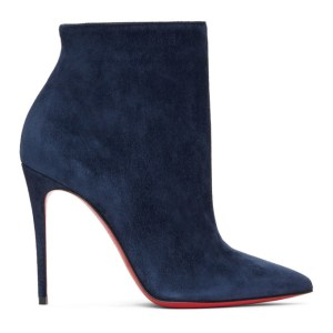 Christian Louboutin Navy So Kate 100 Boots