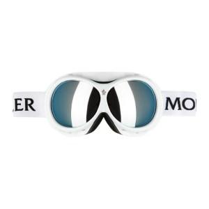 Moncler Grenoble White Mirror Ski Goggles