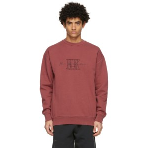 Han Kjobenhavn Red Artwork Crew Sweatshirt