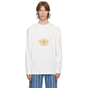 Han Kjobenhavn White Artwork Boxy Long Sleeve T-Shirt