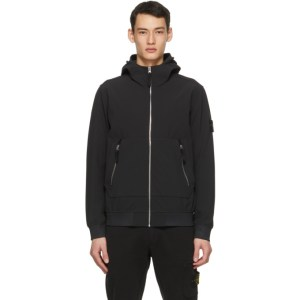 Stone Island Black Soft Shell-R E-Dye® Light Jacket