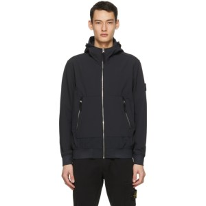 Stone Island Navy Soft Shell-R E-Dye® Light Jacket