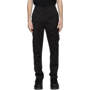 Stone Island Black Cotton Cargo Pants