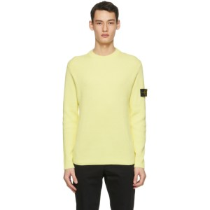 Stone Island Yellow Rib Knit Sweater