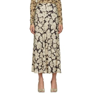 Nanushka Brown and Beige Rezi Mid-Length Skirt