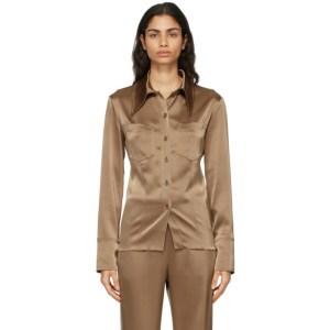 Nanushka Brown Tippi Shirt
