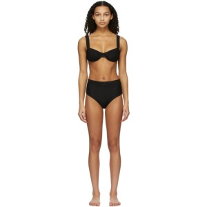 Solid and Striped Black The Lilo Bikini