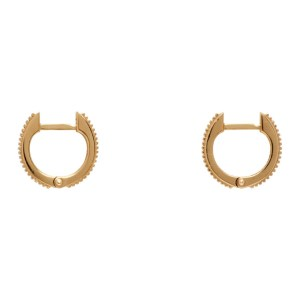 Emanuele Bicocchi Gold Ribbed Earrings