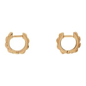 Emanuele Bicocchi Gold Bone Earrings