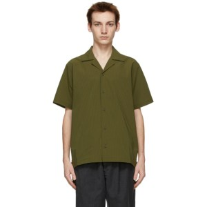 Saturdays NYC Green Seersucker Canty Short Sleeve Shirt