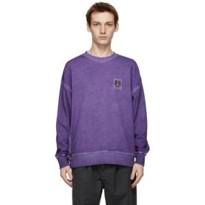 Saturdays NYC Purple Washed Ari Peace Sweatshirt