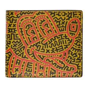 Coach 1941 Black Keith Haring Edition Mickey Double Billfold Wallet