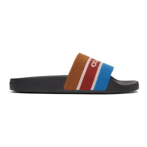 Coach 1941 Brown and Navy Knit Logo Sandals