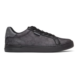 Coach 1941 Grey and Black Lowline Sneakers