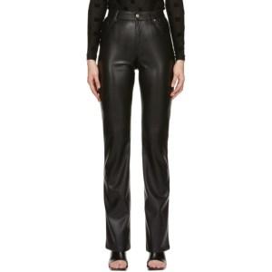 MISBHV Black Vegan Leather Trousers