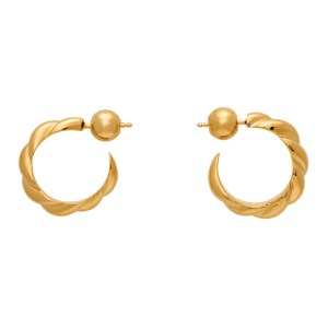 Sophie Buhai Gold Small Rope Hoop Earrings