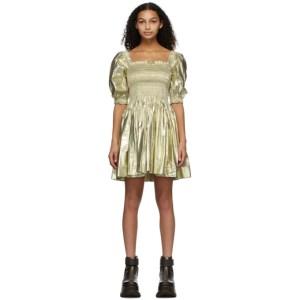 Molly Goddard Gold Hayley Dress