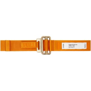 Heron Preston Orange and Gold Tape Belt