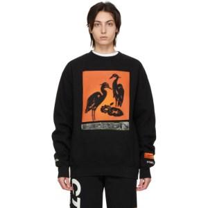Heron Preston Black and Orange Nightshift Sweatshirt