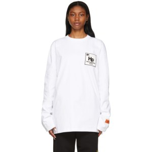 Heron Preston White Herons Halo Long Sleeve T-Shirt