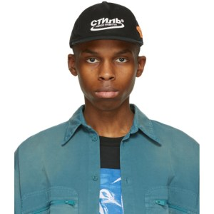 Heron Preston Black and White Style Baseball Cap