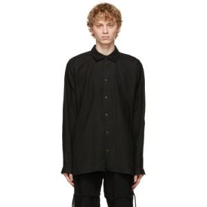 Jan-Jan Van Essche Black Wide Fit Shirt