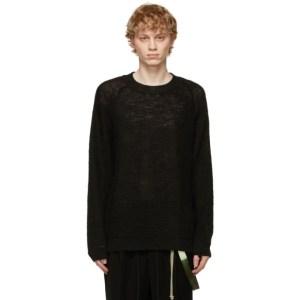 Jan-Jan Van Essche Black Loose Knit Bombetta Sweater