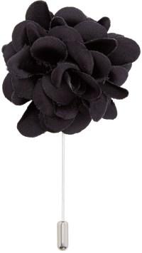 Lanvin: Black Rose Tie Pin | SSENSE