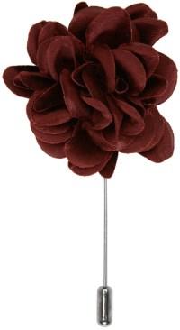 Lanvin: Burgundy Rose Tie Pin | SSENSE