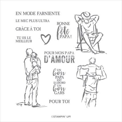 SET DE TAMPONS AMOVIBLES UN BON GARS (FRANÇAIS)