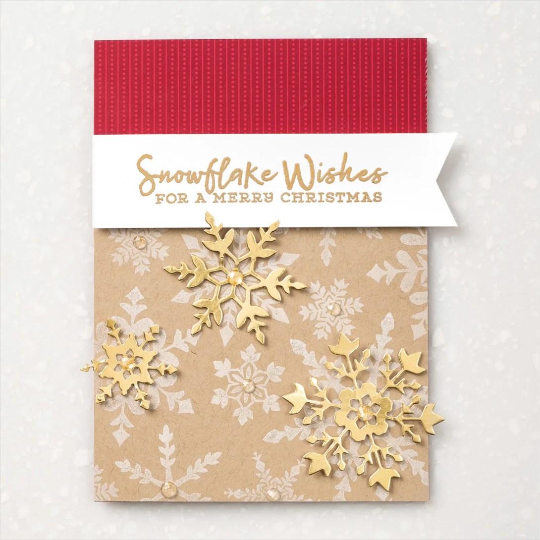 SNOWFLAKE SPLENDOR SUITE-Rustic Glam Snowflake Wishes Card