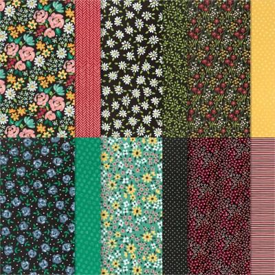 FLOWER & FIELD 12 X 12 INCH (30.5 X 30.5 CM) DESIGNER SERIES PAPER #155223
