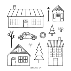 COMING HOME PHOTOPOLYMER STAMP SET #153500