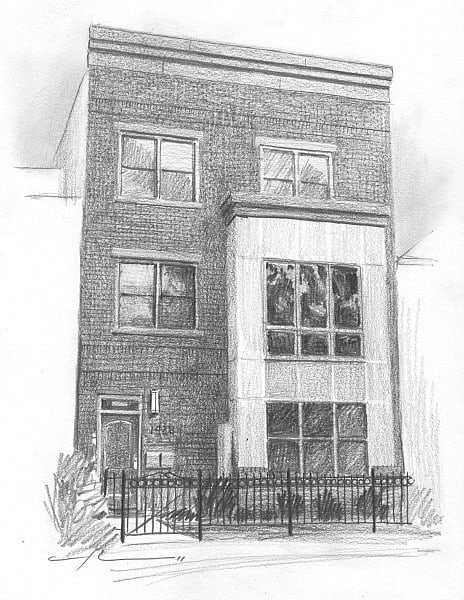 House Pencil Sketch : house, pencil, sketch, Theuer, House, Portraits, Gallery, Sample, Drawings, Paintings