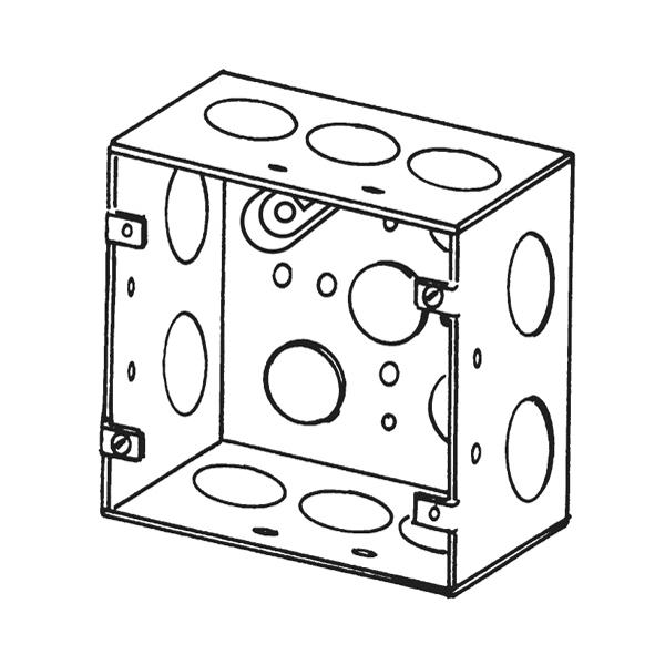 Appleton® 4SJD-3/4 ETP Square Box, 42 cu-in, 14 Outlet, 14