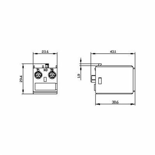 SIRIUS 3RH29111AA10 Auxiliary Switch Block, 690 VAC/600