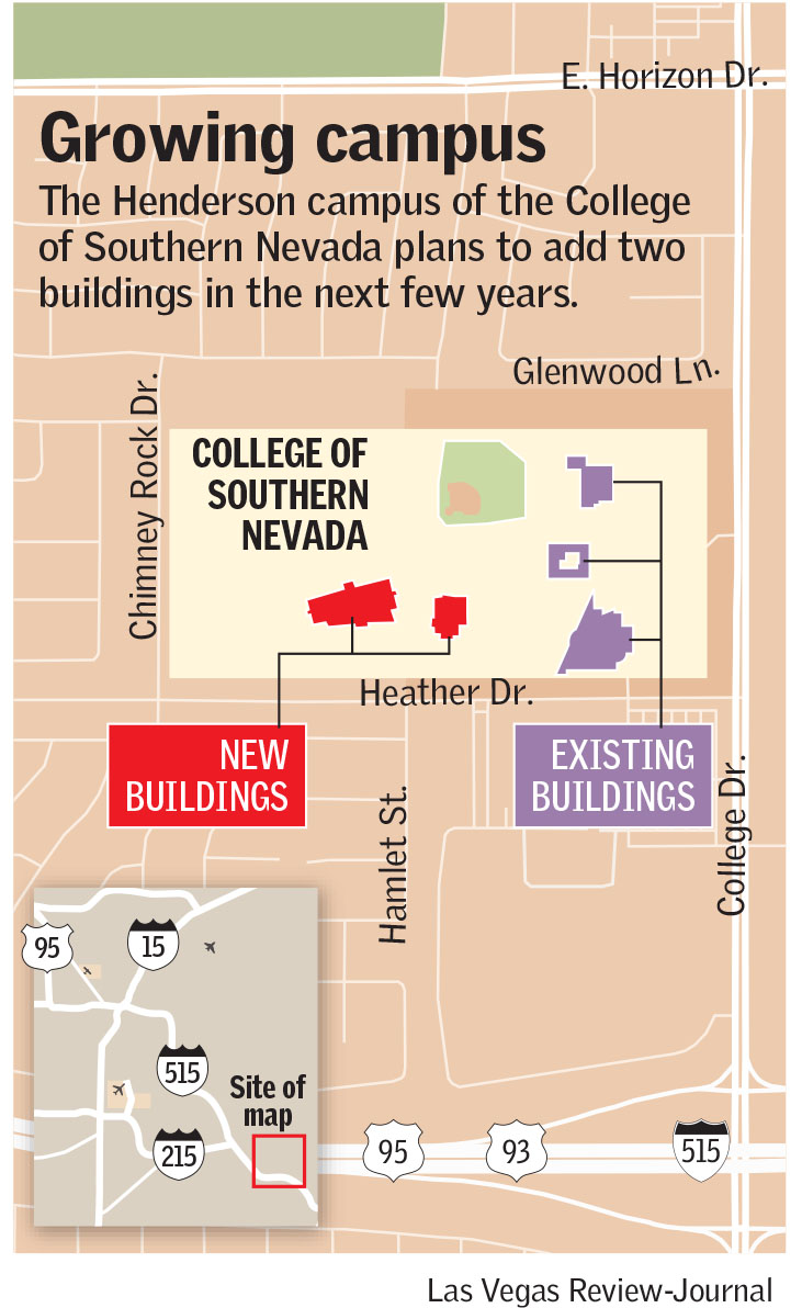CSN's Henderson campus grows with new provost. buildings | Las Vegas Review-Journal