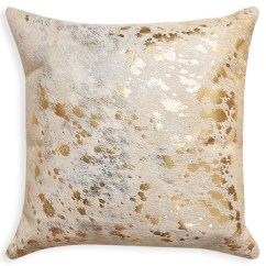 Cowhide Sofa Throws Italsofa Leather Sectional Trouva Metallic Cow Hide Pillow