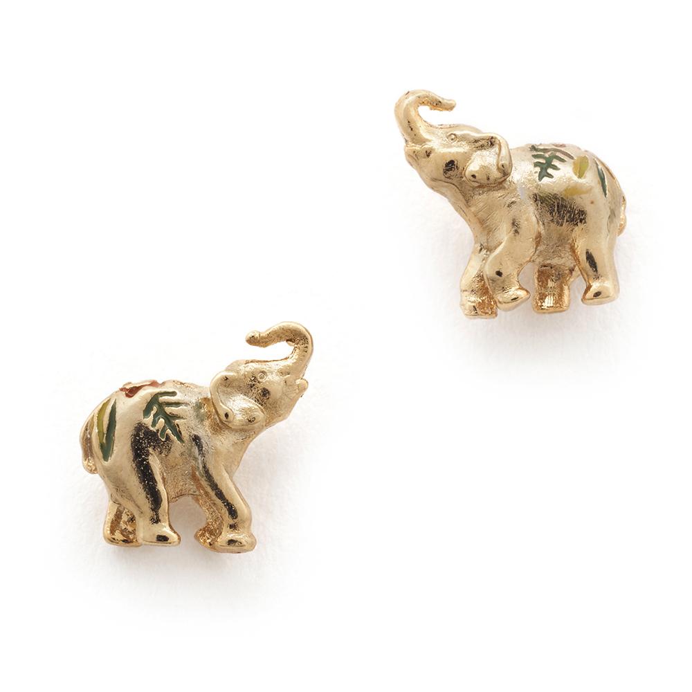 Trouva: Bill Skinner Gold Elephant Earrings